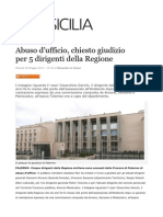 Tolomeo Arnone Sansone Gelardi Maniscalco Genchi Livesicilia 28-05-13 Abuso d'Ufficio Per 5 Dirigenti