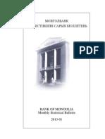 Mongol Bank Statistics 2012.01