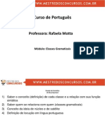 Rafaela Motta Portugues , Classes Gramaticas