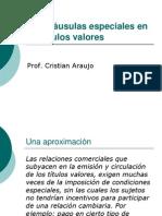 Cláusulas Especiales de Los Títulos Valores (1)