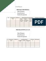 Contoh Program Remedial Dan Pengayaan Kimia XI