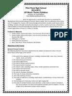 PPHS AP Music Theory Syllabus