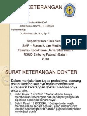 Surat Ketdokter