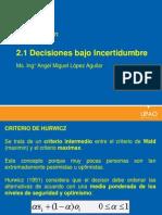 Decisiones Bajo Incertidumbre- Continuacion