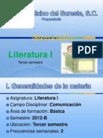 Presentación Literatura i
