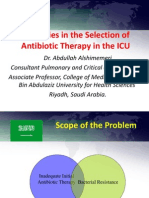 Strategies in the Selection of Antibiotic Therapy in the ICU