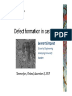 Defect Formation in Cast Iron