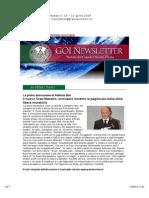 Newsletter Settimanale n. 14 - 11 Aprile 2014