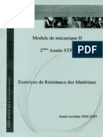 Exercices de Résistance Des Matériaux