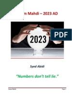 Zahoor of Mahdi in 2023