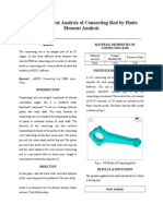 Stress Analysis of Connecting Rod by Finite Element Analysis