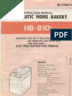 Manual for Hitachi Bread Maker