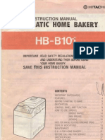 Manual for Hitachi Bread Maker