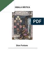 Dion Fortune Cabala Mistica