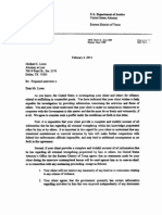 Sample Proffer Letter from U.S. Attorney