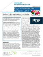 Evidence Briefings on Interventions to Improve Medication Safety Double Checking Medication Administration PDF 888KB