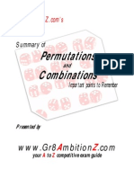 Permutations and Combinations - Gr8AmbitionZ