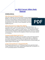February 2014 Current Affairs Study Material