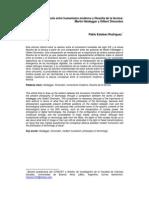 Sobre El Vínculo Entre Humanismo Moderno y Filosofía de La Técnica Heidegger y Simondon