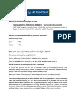 Gilt Fund Questionnaire