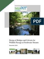 Design Bridges Culverts Wildlife Passage 122710