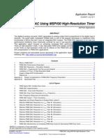 PWM DAC Using MSP430 High-Resolution Timer