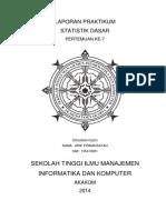 Laporan Praktikum Statistik Dasar Pertemuan Ke 7 akakom