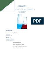 Informe 9 Quimica Organica
