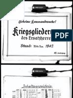 143661430 Kriegsgliederung Des Ersatzheeres Stand Mitte November 1942