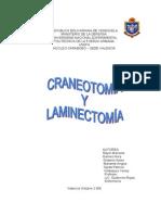 Craneotomia y Laminectomia