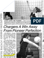 Chargers a win Away from Pioneer Perfection