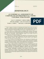 Corporate Environmental Crime