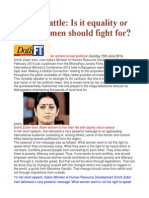 Gender Battle is It Equality or Equity Women Should Fight For