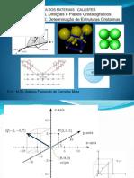 Cristalográfia e Difr. de Raios x -3