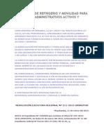 Asignación de Refrigerio y Movilidad Para Docentes y Administrativos Activos y Cesantes