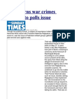 Govt. Turns War Crimes Probe Into Polls Issue