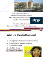 Advising Students for a Career as a Chemical Engineer