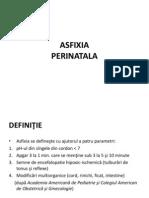 Curs 3.1 neonatologie Asfixia Perinatala