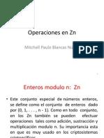 Operaciones en Zn