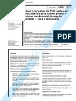 NBR 10570_88 - Tubos e Conexões de PVC Rígido Com Junta Elástica Para Coletor Predial e Sistema Condominial de Esgoto Sanitário - Tipos e Dimensões - 4pag