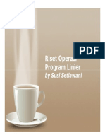 Riset Operasi Program Linier