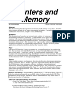Pointers and Memory