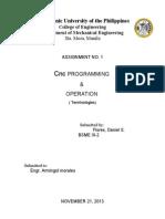 CNC Terminologies