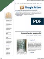 72831454 Artrosis Lumbar o Espondiloartrosis