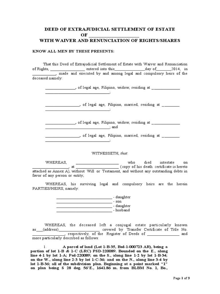 renunciation letter sample