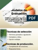 Modelos de Evaluacion Examenes