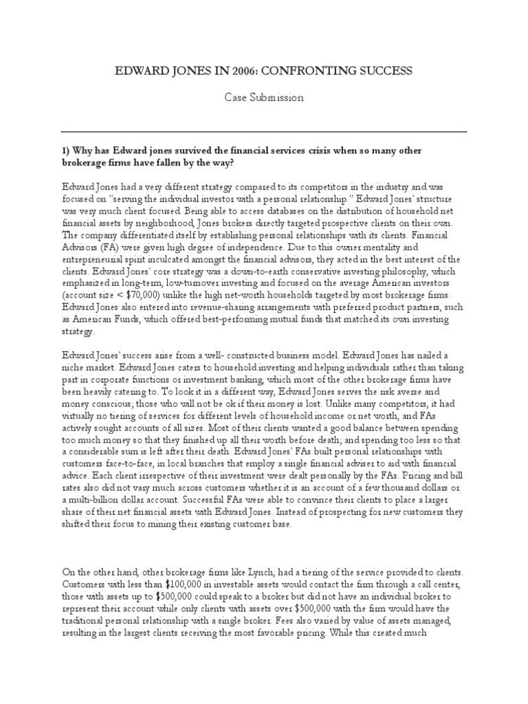 edward jones case To refer a friend, send steven case's webpage to a friend by: email program (microsoft outlook, apple  _____ work history edward jones 2008.