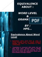 equivalence about word level and gramatical