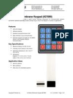 4x4 Matrix Membrane Keypad v1.2