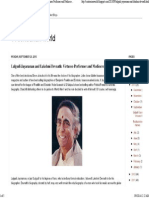 A Contrarian World Lalgudi Jayaraman and Lakshmi Devnath Virtuoso Performer and Mediocre Biographer